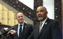 John Key and Te Ururoa Flavell.