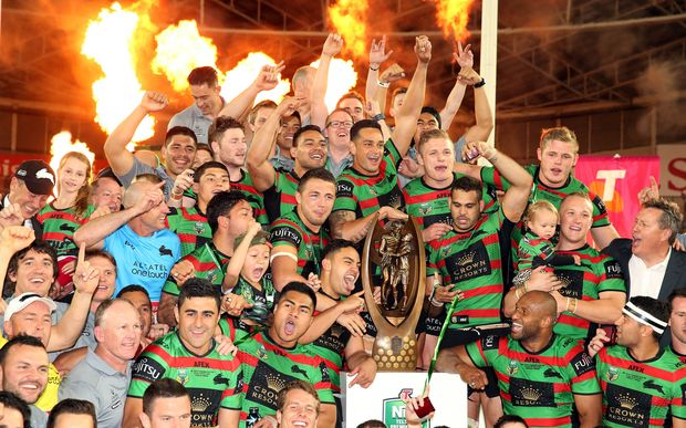 Rabbitohs celebrations.NRL Grand Final - Rabbitohs v Bulldogs. Sunday 5 October 2014.