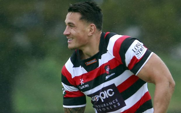 Sonny Bill Williams trains with Counties-Manukau.