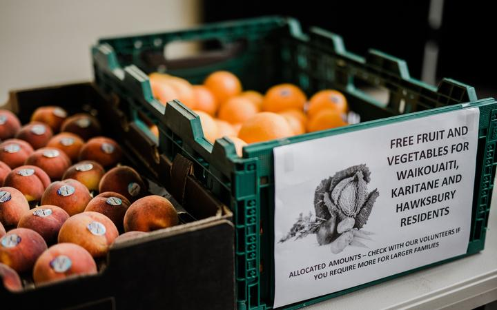 Free fruit at the lead blood testing centre for Karitane and Waikouaiti residents.
