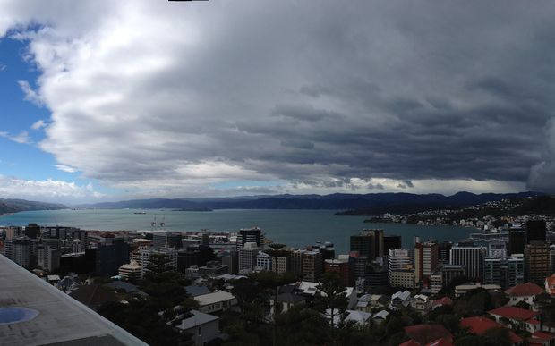 The weather changes from a northerly to a southerly in Wellington.