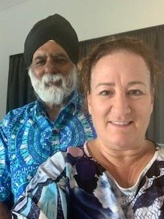 Professor Pal Ahluwalia and Sandra Price