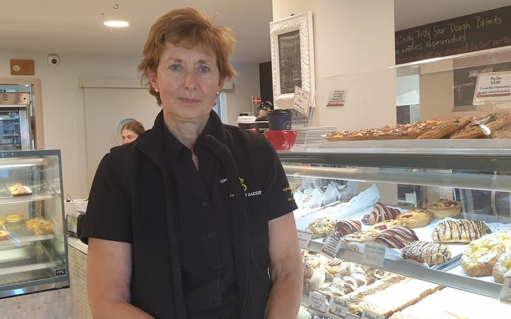 Copenhagen Bakery  owner Donna Thomsen in Christchurch - upset at harewood Rd cycleway plans