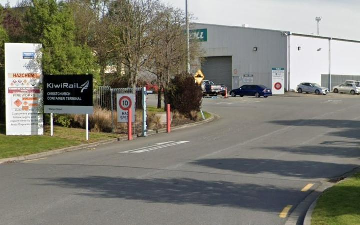 The KiwiRail container terminal on Matipo St in Christchurch.