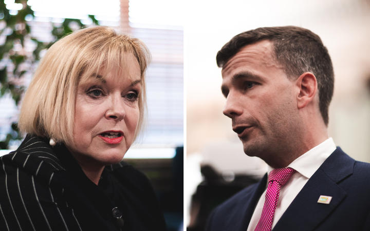 National Party leader Judith Collins and ACT leader David Seymour.