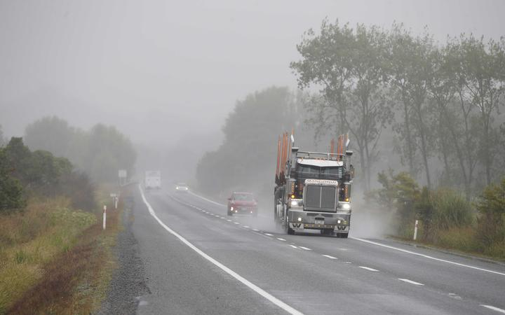 Rain in Northland on 15 February 2021