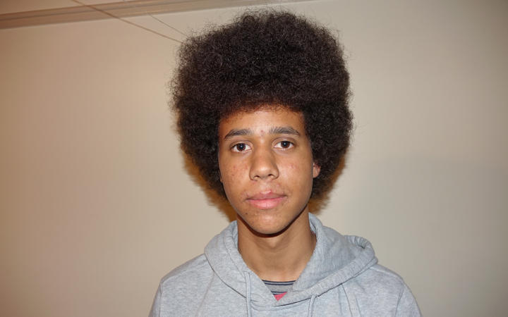 Lewis O'Malley-Scott with his afro