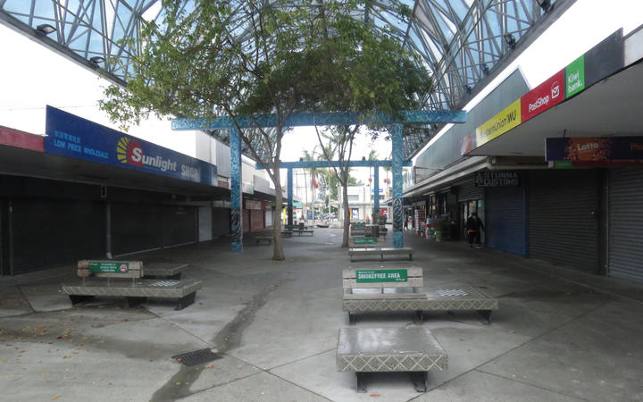 Shop shut in the middle of what would normally be a trading day in Ōtara Town Centre.