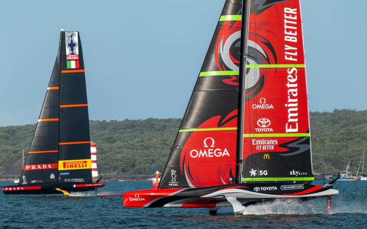 America's Cup teams Luna Rossa and Team New Zealand.