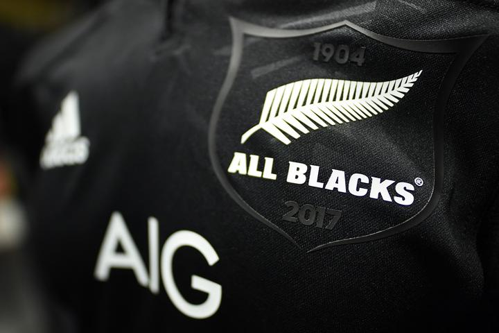 All Blacks jersey featuring the Silver Fern