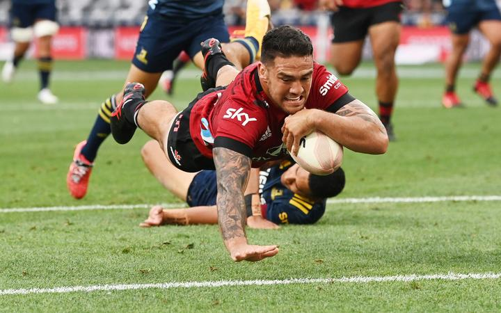 Codie Taylor scores a try, 
