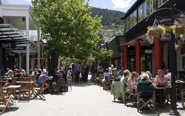 There are about 300 businesses in downtown Queenstown.