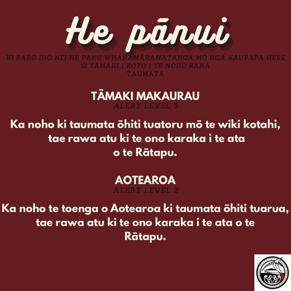 Ngā Tauira Māori o Tāmaki Makaurau at the University of Auckland have created their own Covid communication for students.