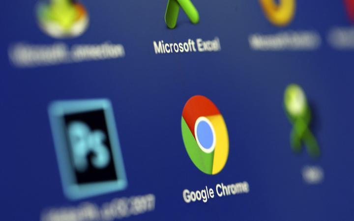 A phone screen displays the Google Chrome app.