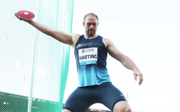 German discus thrower Robert Harting
