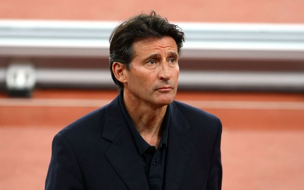 The IAAF president Lord Sebastian Coe.