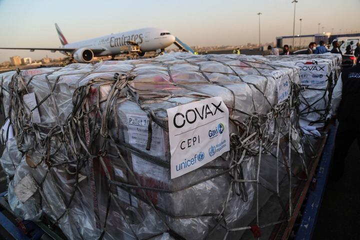 First batch of AstraZeneca/Oxford coronavirus (COVID-19) vaccines, are being unloaded from a plane upon arrival at Khartoum International Airport.
