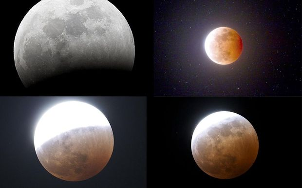 How Wednesday night's full lunar eclipse looked from the South Island.