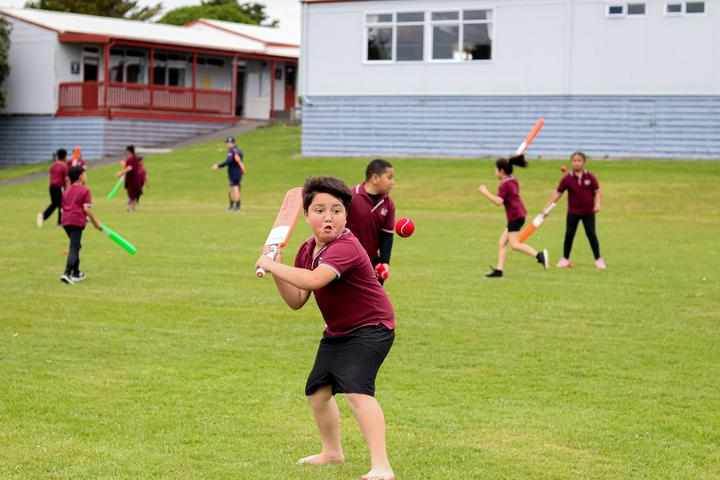 Students at Kelston Primary School are among those to have take part in Auckland Cricket's BatFirst programme.