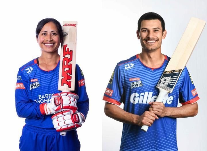Samoa and Auckland cricketers Regina Lili'i and Sean Solia.