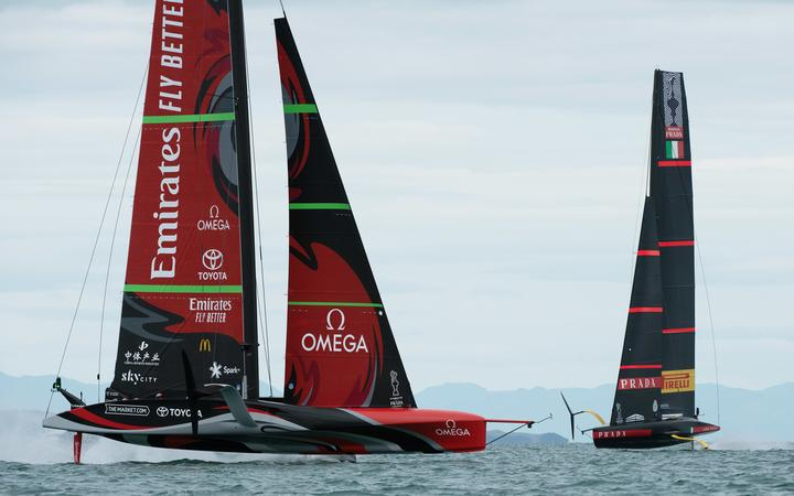 The America's Cup is level at 1-all after the first day of racing.