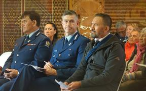 Police Commissioner Andrew Coster and Howie Tamati