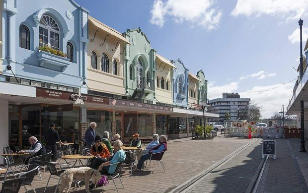 New Regent Street in Christchurch.