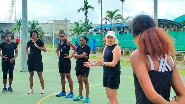 Fiji Pearl's coach, Jenny Brazel, hits the ground running in Suva.