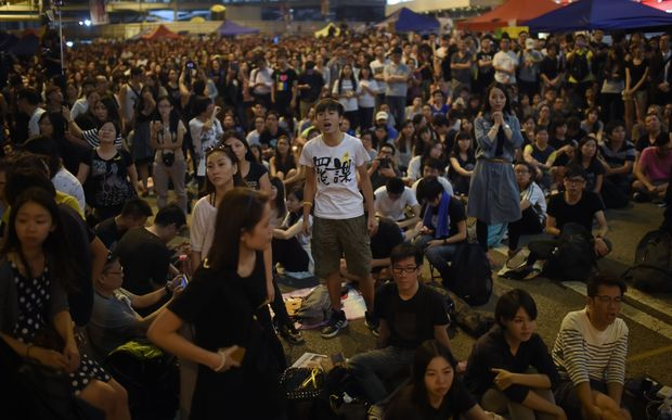 The protesters, demanding full democratic elections in 2017, paralysed parts of Hong Kong in recent weeks.