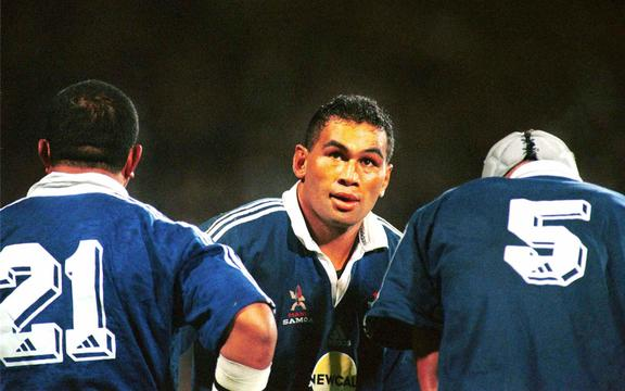 Pat Lam captained Manu Samoa against the All Blacks in 1999.