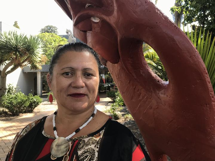 Aorangi Kawiti, WDC Te Kārearea Strategic Partnership Forum Standing Committee member outside the council after today's Māori wards decision which she said offered a new relationship of trust between council and local Māori.