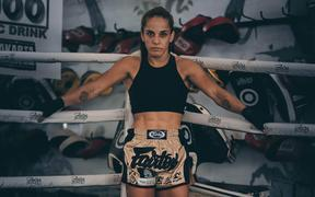 New Zealand mixed martial artist Nyrene Crowley.