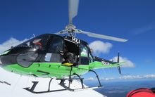Four people were airlifted off Mt Ruapehu.