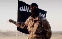 An Islamic State militant, who is believed to have a North American accent.