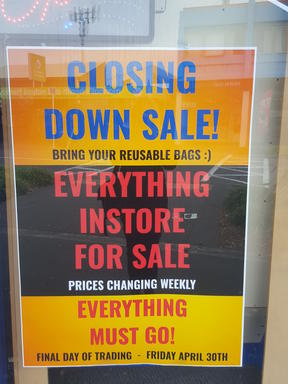 New Brighton United's video store is having a closing sale.