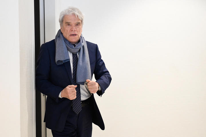 French businessman Bernard Tapie, during a suspension of his fraud trial in 2019.