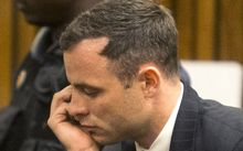 Oscar Pistorius at his sentencing.