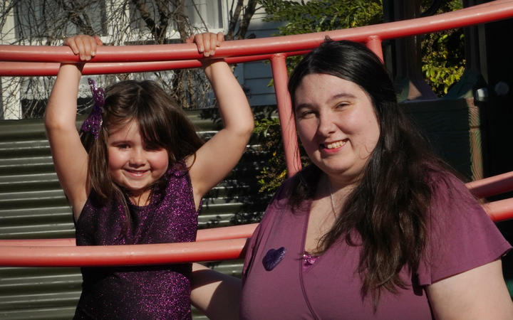 Laura Hume, 28 years old, with her five year old daughter. Laura Hume has epilepsy and was caught up in the Pharmac brand switch. She complained to the Health and Disability Commissioner and forced a review of how brand switches of medicines are handled