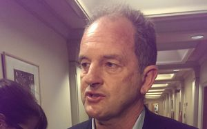 David Shearer arrives at caucus.