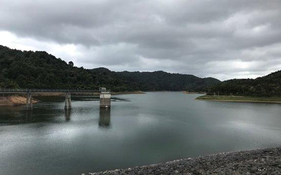 Wairoa Dam in the Hunua Ranges on 6 April, just over half full.