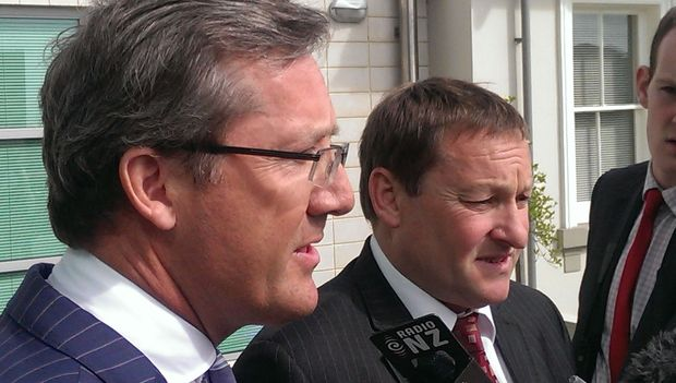 Jonathan Eaton, QC, left, and Lachie McLeod.
