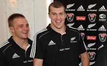 All Blacks Sam Cane and Brodie Retallick