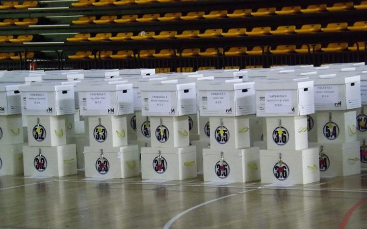 Ballot boxes for Samoa general election