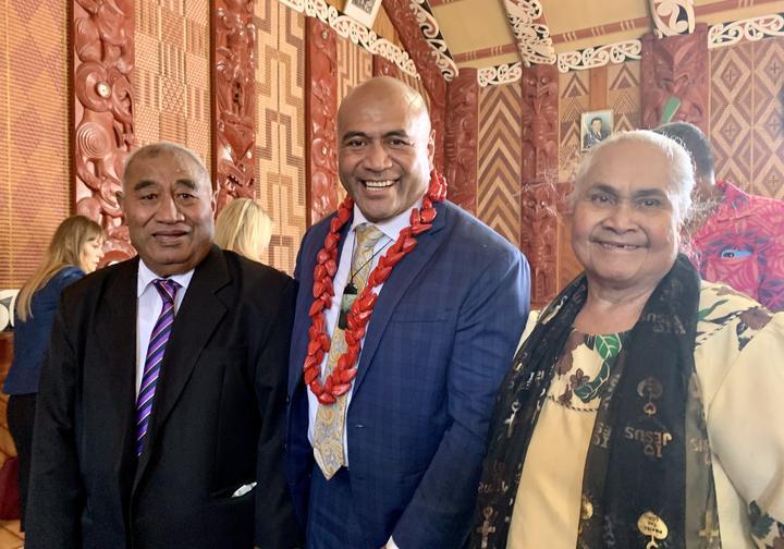 Salafai, Mike and Fou Mika at Waiwhetū Marae