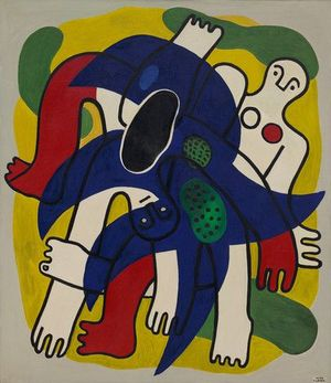 A painting by Fernand Léger called Starfish (L'Etoile de mer)