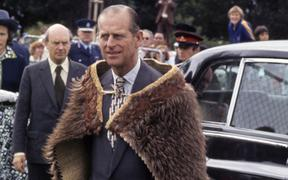 Prince Philip, Duke of Edinburgh in Gisborne during the Silver Jubilee Commonwealth Tours in February, 1977.