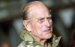 Prince Philip, Duke of Edinburgh arrives to the Barker Barracks to award British soldiers with medals in Paderborn, Germany, 24 April 2012.