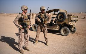 US Marines in a training exercise in Helmand province, Afghanistan, in 2017.