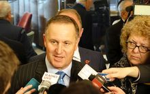 John Key at today's media standup.