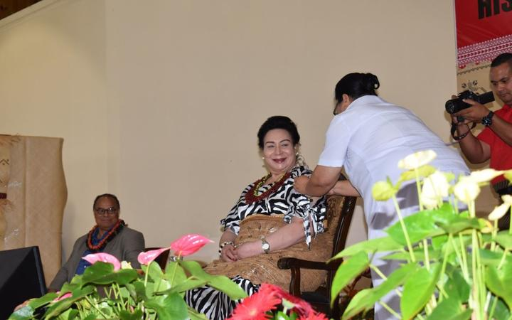 HRH Princess Pilolevu Tuita receives her first dose of the Covid-19 AstraZeneca-Oxford vaccine